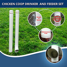 Chicken Feeder & Drinker Set / Chook Waterer / Poultry Coop