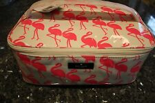 NWT Kate Spade large Colin daycation flamingo makeup cosmetic bag