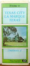 1978 Texas City La Marque Texas road map travel brochure Davidson Home cover