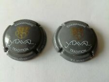 2 capsules de champagne Laval Yves