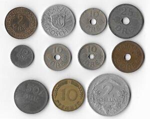 11 NORWAY , AUSTRIA & DENMARK COINS