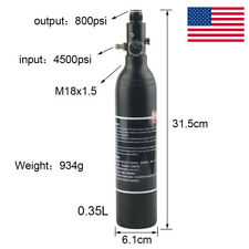 4500psi Hpa 0.35L Air Tank With 800psi Output Regulator High Pressure Paintball