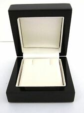 Luxury Real Wood Piano BLACK EARRINGS Jewellery Gift Box-Wedding-Engagement