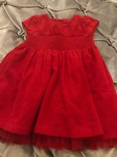 Baby Girls Red Dress , 3-6 Months M&S VGC