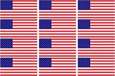 "12 - 2"" American Flag Decal US USA United States Hard Hat Helmet Sticker"