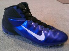 "Nike Alpha Speed TD Football 1/2"" Cleats 442244 Mens Size 13 47.5 Blue High Tops"