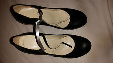 LADIES/GIRLS BLACK HEELED SHOES MADE IN ITALY SIZE 36 UK 3