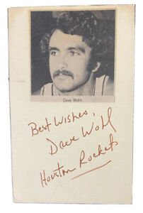 DAVE WOHL Signed Index Card Houston Rockets Basketball LA Clippers Penn Lakers