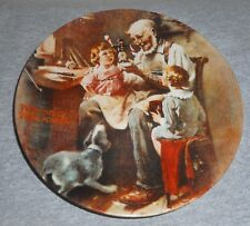"""1977 Norman Rockwell """"Toy Maker"""" Collector Plate"""