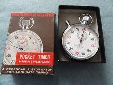 Swiss Made Beauwyn 7 Jewels 1/5 Vintage Mechanical Wind Up Stop Watch Stopwatch