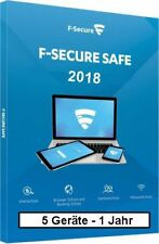 F-Secure Safe Internet Security 2018, 5 Geräte - 1 Jahr, ESD, Download Win/Mac/A