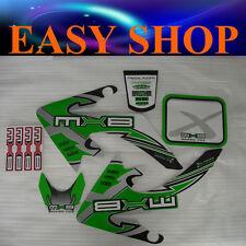 Green Sticker Decal Kit Fairing CRF 50cc 70cc 90cc 125cc Bike Dirt Pit Pro Trail