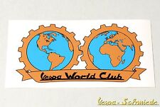 "DECORO Adesivo ""VESPA WORLD CLUB"" - bronzo-mondo v50 PK PX GL TS Sticker Club"