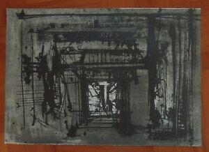 EMILIO SCANAVINO litografia 1960 ''SENZA TITOLO'' (39)