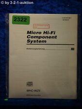 Sony Bedienungsanleitung MHC WZ5 Component System (#2322)