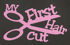 Scrapbooking Words & Designs-My First Haircut - pink