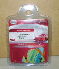 6 Pack Disney THE CARS Series Guitar Picks NEW OOP
