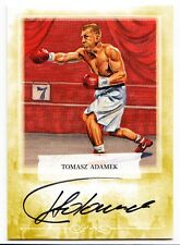 Tomasz Adamek 2011 Ringside Boxing Round 2 Autographed Gold Card /10 #A-TA2