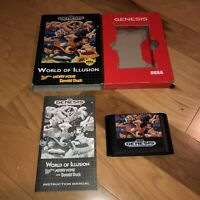 Cardboard Variant World of Illusion Starring Mickey Mouse  Sega Genesis Complete