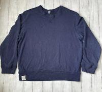 Ralph Lauren & Co Men's Sz XXL Blue Double Layer Waffle Knit Lined Sweater Shirt