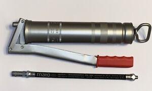 Mato Ganzstahl Fettpresse E500 + Gummipanzerschlauch 30cm E4044 RH-30C 3042301