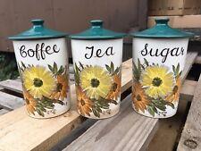 Crown Devon Fieldings Tea, Coffee And Sugar Jars Flower Pattern