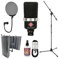 New Neumann TLM 102 Large-Diaphragm Condenser Microphone + Mic Accessory Bundle