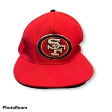 San Francisco 49ers Snapback Fit Hat Cap New Era One Size Fits All Red NFL