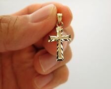 10k Yellow Gold Cross Charm Pendant Gold Crucifix