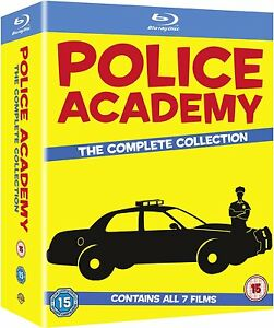 POLICE ACADEMY Complete Collection Blu ray Films 1, 2, 3, 4, 5, 6, & 7 Movies RB