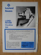 LAND ROVER Overdrive Unit orig 1970s UK Mkt Sales Leaflet Brochure - Leyland BL