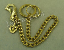 Handmade Gold Vintage Solid Brass Fob Wallet Key Chain With Hook