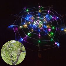 Halloween Led Spider Web Outdoor Horror Party Props Light Up Cobweb Spooky Decor