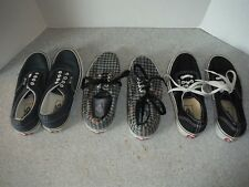3 Pair of Vans Shoes in good shape - Men's Size 5 - Women 6.5