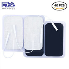 40PCS Massage Electrodes Pad Replacement for Unit TENS Pads 3000 EMS 2x 3.5 Inch