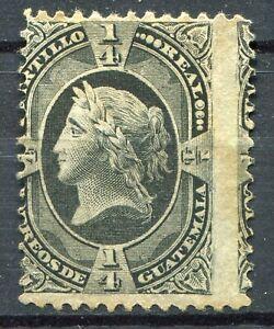 Weeda Guatemala #7 MNG - 1/4r Black - 1875 - CV $42.50