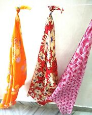 Set Of 3 Cotton scarf stole Square hijab Neck wraps Pakistani Ethnic Sarong  A06