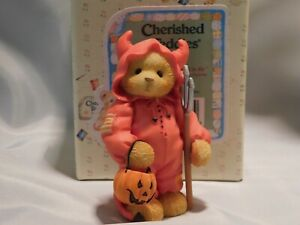 """Cherished Teddies HALLOWEEN """"TREVOR"""" - Boy as Devil - Mint with Box and Papers"""