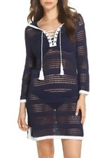 1b40b34a45 NWT 128 Tommy Bahama open Stitch Hooded Cover-Up Mare Navy Sweater Dress Sz  XL
