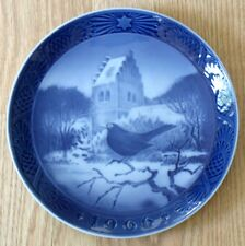 ROYAL COPENHAGEN 1966 Christmas plate BLACKBIRD Solsort ved Juletid DENMARK
