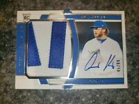 2020 Panini National Treasures Auto Jersey Patch RC Anthony Kay RPA #174