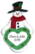 SNOWMAN Personalized Christmas Ornament HANDMADE Polymer Clay by Deb & Co.