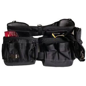"Husky Electrician Suspension Rig 14-Pocket Black Tool Belt Up to 52"" In Waist"