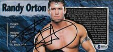 Randy Orton Signed 4.25x9 WWE Live Event Program Page Photo BAS Beckett COA Auto