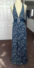New! BCBG Maxazria Silk Teal Full Lenght Dress Formal Homecoming Prom Sz 2 $360
