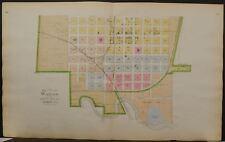 Nebraska Saunders County Map City of Wahoo  c1907 2-Double Side/Pg Q7#58