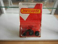 Matchbox Superfast Shovel Nose Tractor in Red on Blister