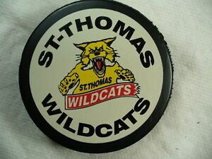 CoHL St. Thomas Wildcats Sm League Official Team Logo Hockey Puck Collect Pucks