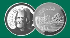 "Lithuania 20 euro 2018 ""Vilhelmas Storosta-Vydūnas"" PROOF Silver"