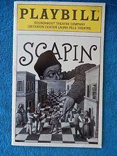 Scapin - Laura Pels Playbill - January 1997 - Bill Irwin - Kristin Chenoweth